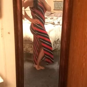 Long dress with split to knee
